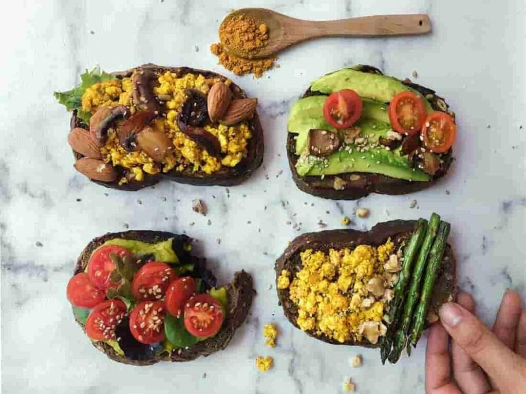 tostada vegetariana